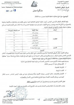Notice of internal competition for the year 2020